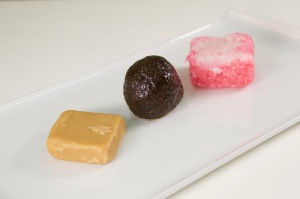 Fudge, Tulum, Sugarcake on Tray