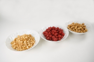 Spees, Damson and Channa in bowls